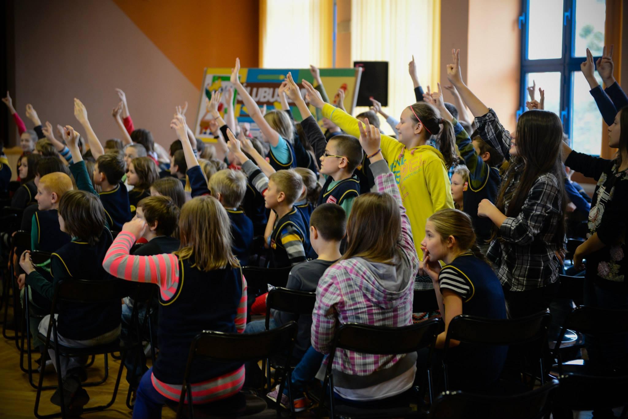 Wizyta Michała i Trenerów w Szkole Podstawowej nr 5