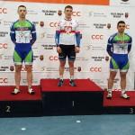Daniel Rochna na podium